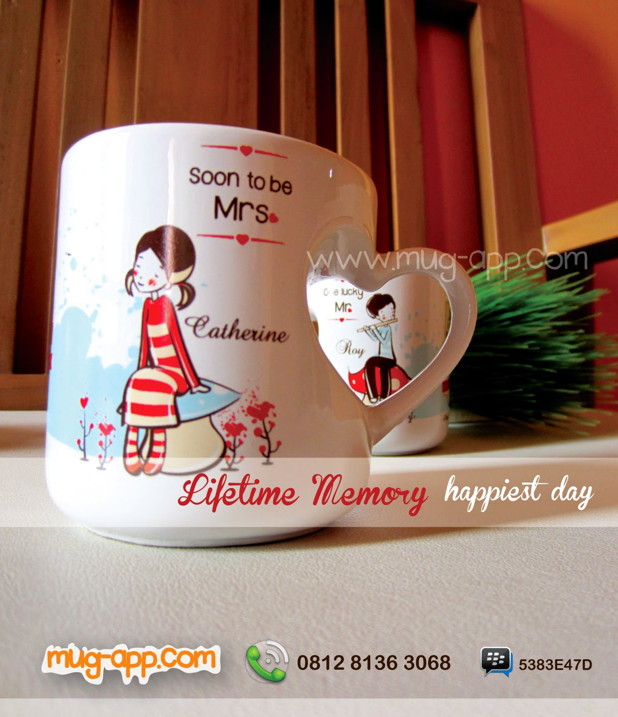 Souvenir Wedding Mug Couple