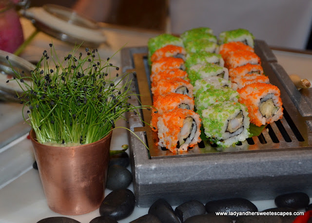 Japanese dishes at Palazzo Versace Dubai