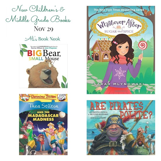 New Children's and Middle Grade Books coming out november 29th