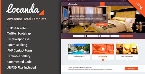 Hotel Bootstrap Template