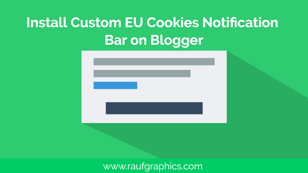 How to Install Cookies Bar Notification on blogger