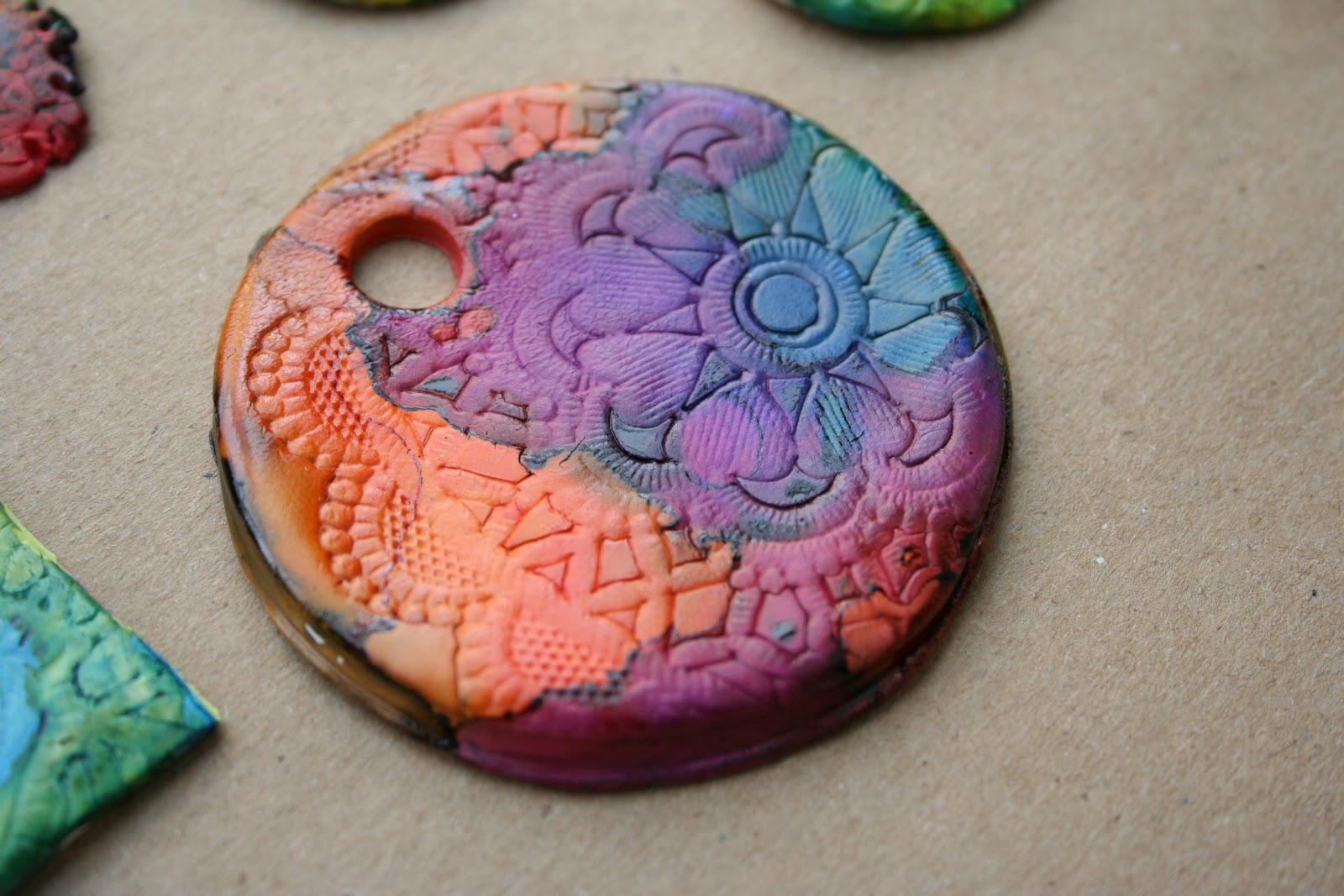 Color Combinations With Pink Pink And Green Mama Alcohol Ink On Polymer Clay