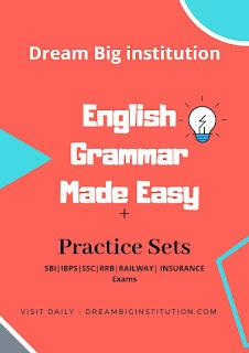 English Grammar Made Easy E-Book- Dream Big Institution