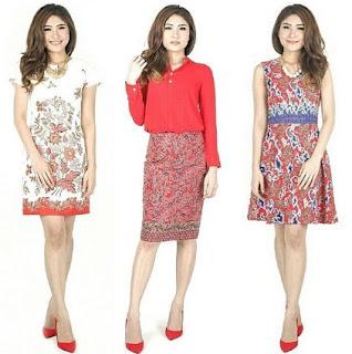Dress remaja putri paduan rok batik