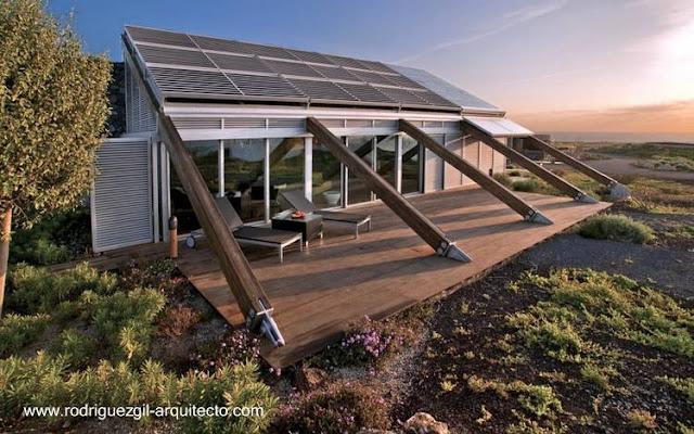 Casa aislada de diseño bioclimático y sustentable