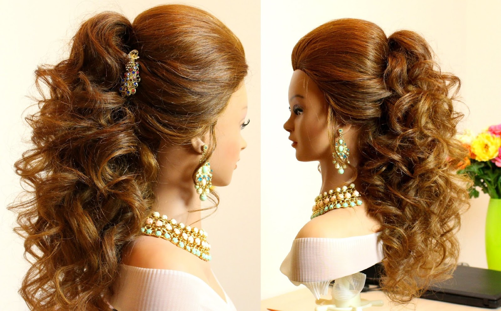 8 Hairstyles For Curly Hair: 49 Elegant Prom Hairstyles For Curly Hair Women
