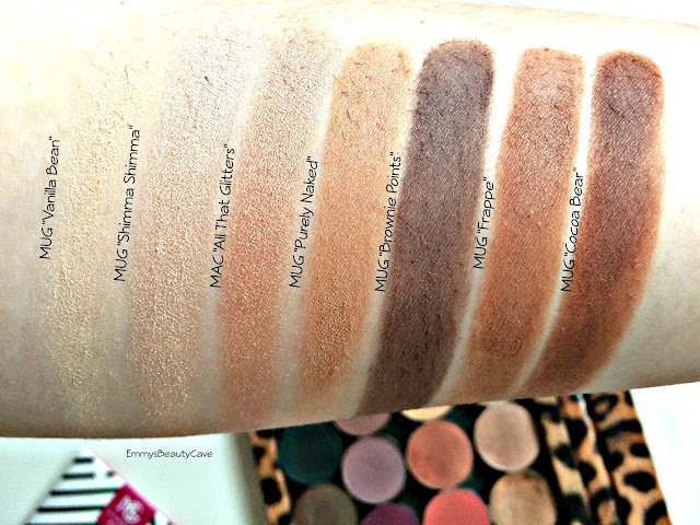 Makeup Geek Neutral Eyeshadows, Makeup Geek Matte Eye Shadow Swatches, Makeup Geek Swatches