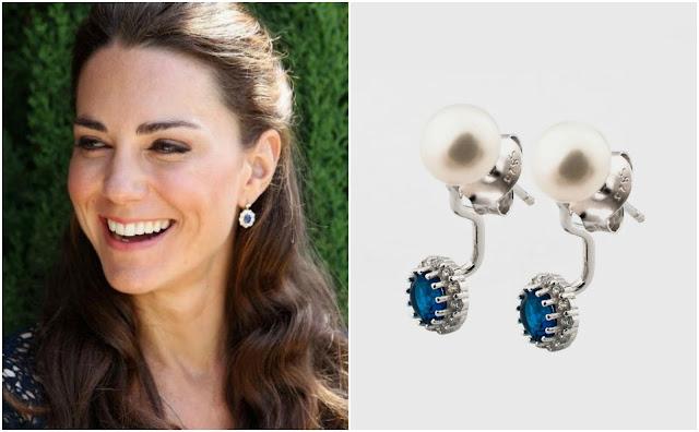 Kolczyki księżnej Kate z niebieskimi cyrkoniami