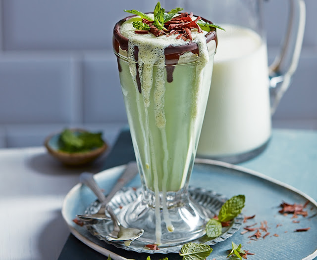 Mint Chocolate Milkshake Recipe
