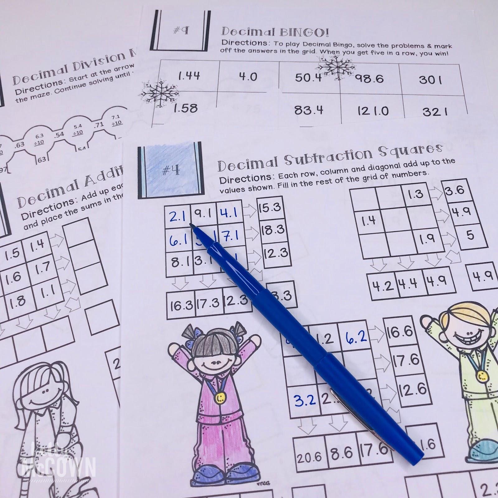 Kelly Mccown 5th Grade January Math