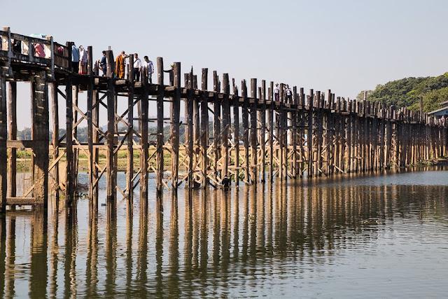 Puente de U-Bein, Amarapura, Myanmar