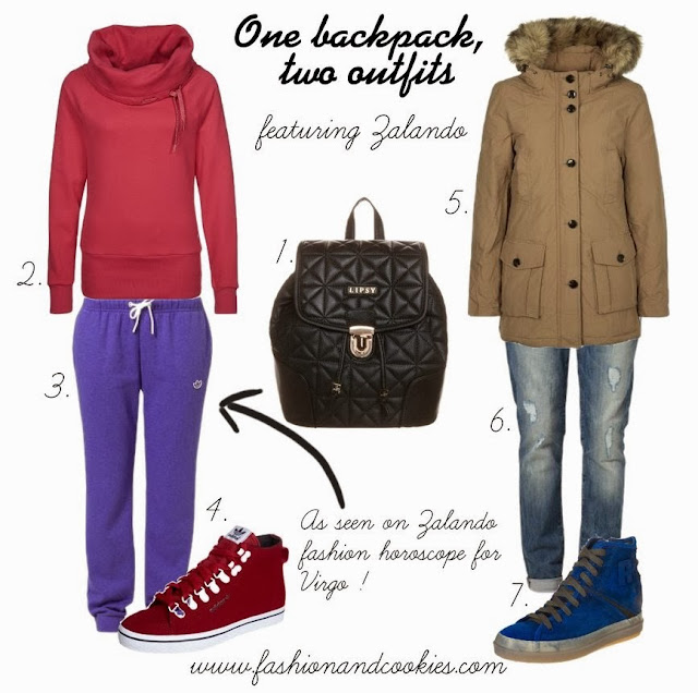 Zalando selection on Fashion and Cookies, one backpack for two outfits