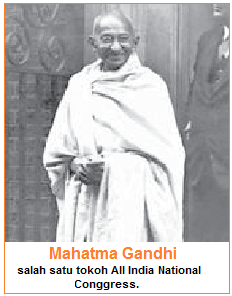Mahatma Gandhi salah satu tokoh All India National Conggress.