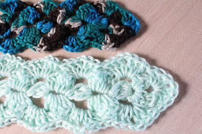crochet, scarf, pattern, for-sale, free gift, before and after