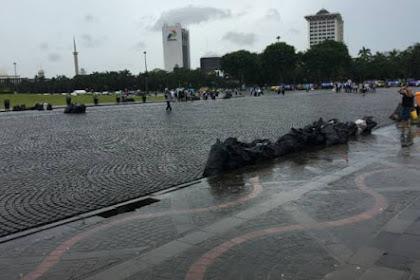 Bersih Sejauh Mata Memandang. Foto Monas Bebas Sampah Usai Aksi Super Damai 212