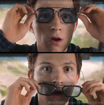 Peter Parker Wearing Tony Stark's Sunglasses in Spider-Man Far From Home with Tom Holland