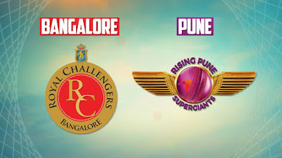 Royal Challengers Bangalore (RCB) vs Rising Pune Supergiant (RPS)