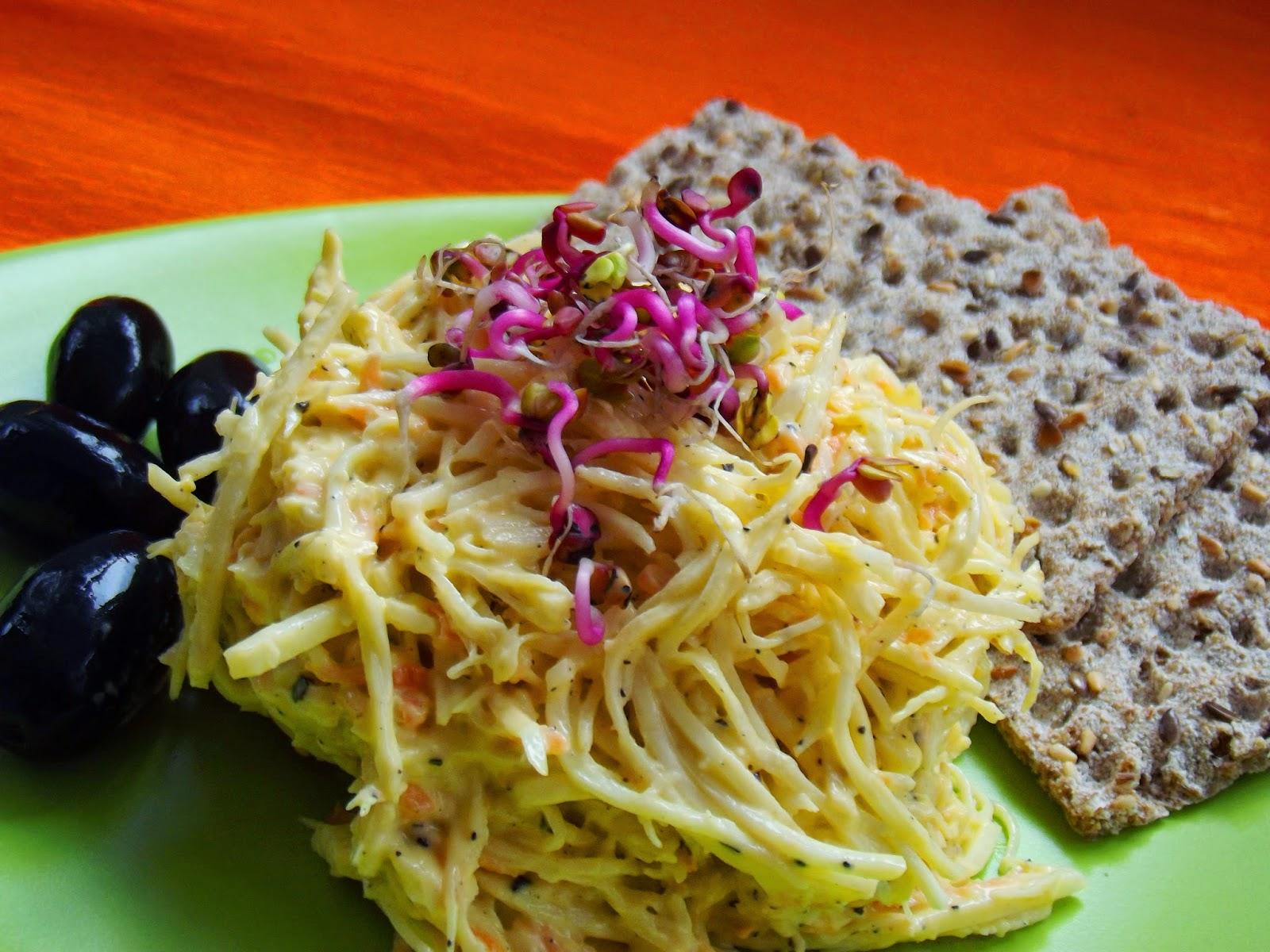 Salata de telina cu maioneza