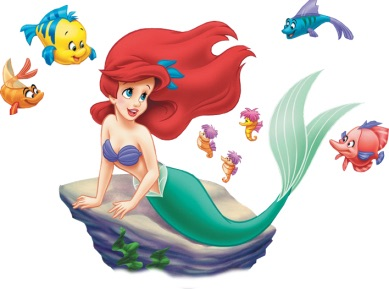 Morgan's Milieu | 50 Brilliant Walt Disney Movies: Ariel, The Little Mermaid, surrounded by her fishy friends.