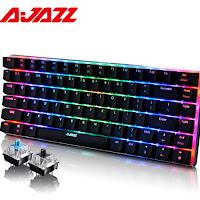 Ajazz AK33 82 llaves ruso teclado de juego Cable de teclado mecánico azul/interruptor negro RGB retroiluminado libre de conflictos de prórroga jugador
