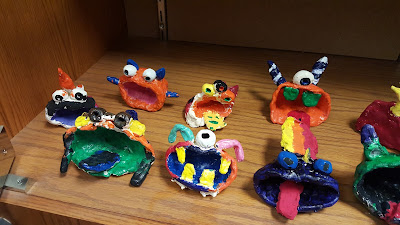 Fourth Grade Pinch Pot Clay Monsters Art Lesson