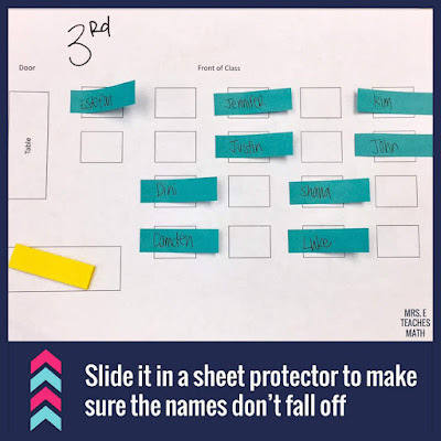 Teachers, do you struggle with ideas for making a seating chart?  This simple teacher hack is so easy to use in any classroom!