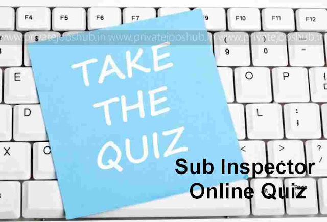 Sub Inspector Online Quiz