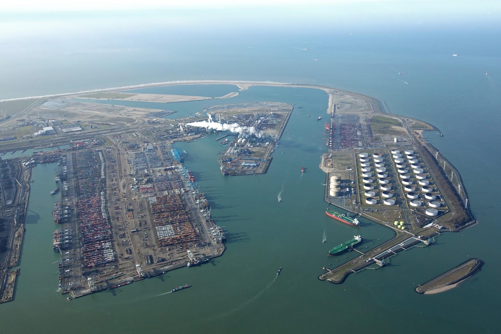 Rotterdam Container Terminal Marine Vessel Traffic