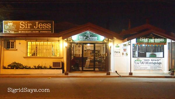 Sir Jess healthy food option Bacolod