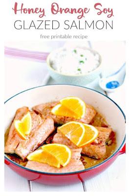 Honey Orange Soy Glazed Salmon