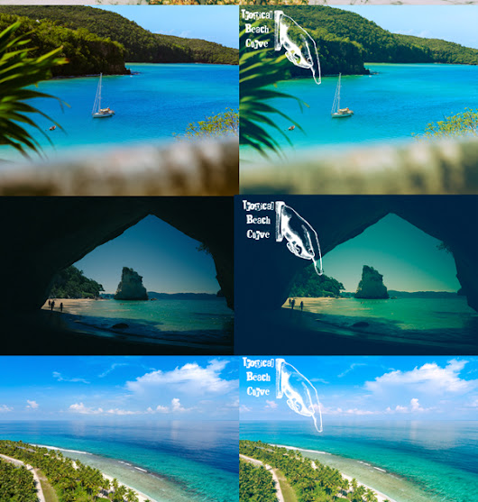 Free Curve & LUT Tropical Beach