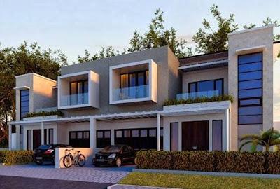 contoh desain rumah minimalis perkotaan