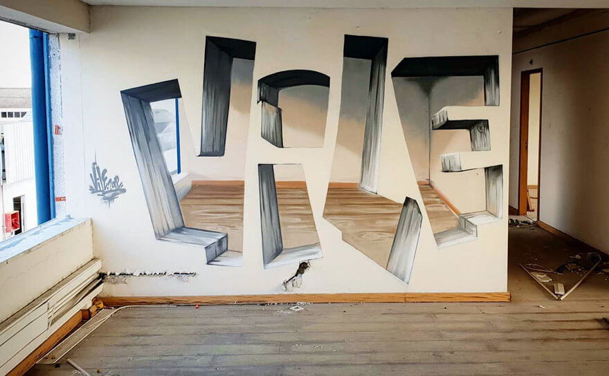 Graffiti Artist Paints On Walls And Makes Them Transparent