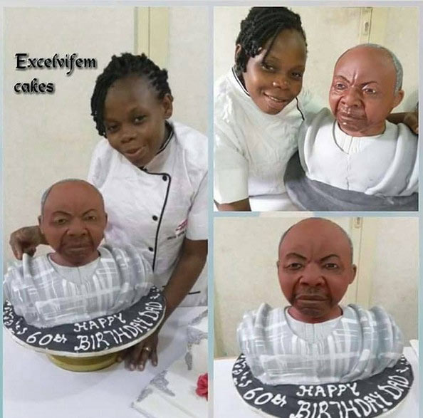 Cake for 60-year-old birthday celebrant throws internet into confusion