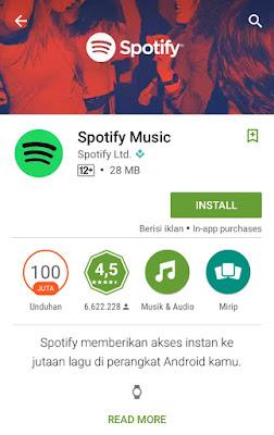Cara mendaftar Spotify