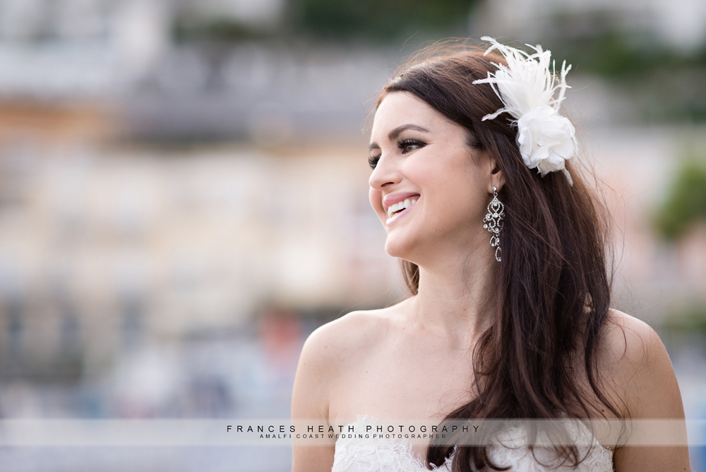 Bride portrait on Positano beach