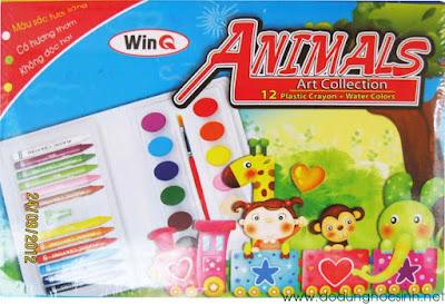 Bút sáp bộ Animals 12 màu WinQ