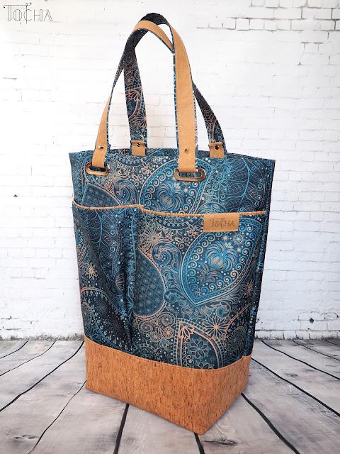dresowka.pl, mehndi, waterproof, cork, korek, cork fabric, cork leather, Washpapa, turquoise, shoulder bag, oversized tote, washable paper, vegan leather,
