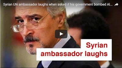 Duta Besar Suriah untuk PBB Tertawa Ketika Ditanya Apakah Asad Membom Rumah Sakit di Aleppo