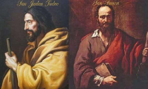 Resultado de imagen para san simón y san judas tadeo apóstoles