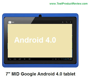 "7"" MID Google Android 4.0 tablet"