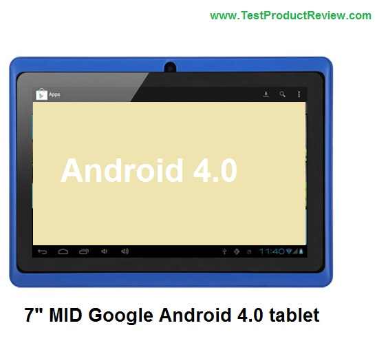 """Cheap 7"""" MID Google Android 4.0 tablet with A13 Cortex A8"""