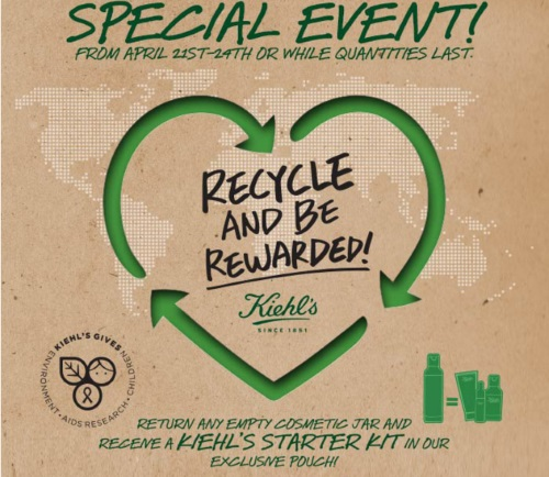 Kiehls Earth Day Free Starter Kit