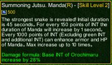 naruto castle defense 6.0  Kuchiyose no Jutsu Manda detail