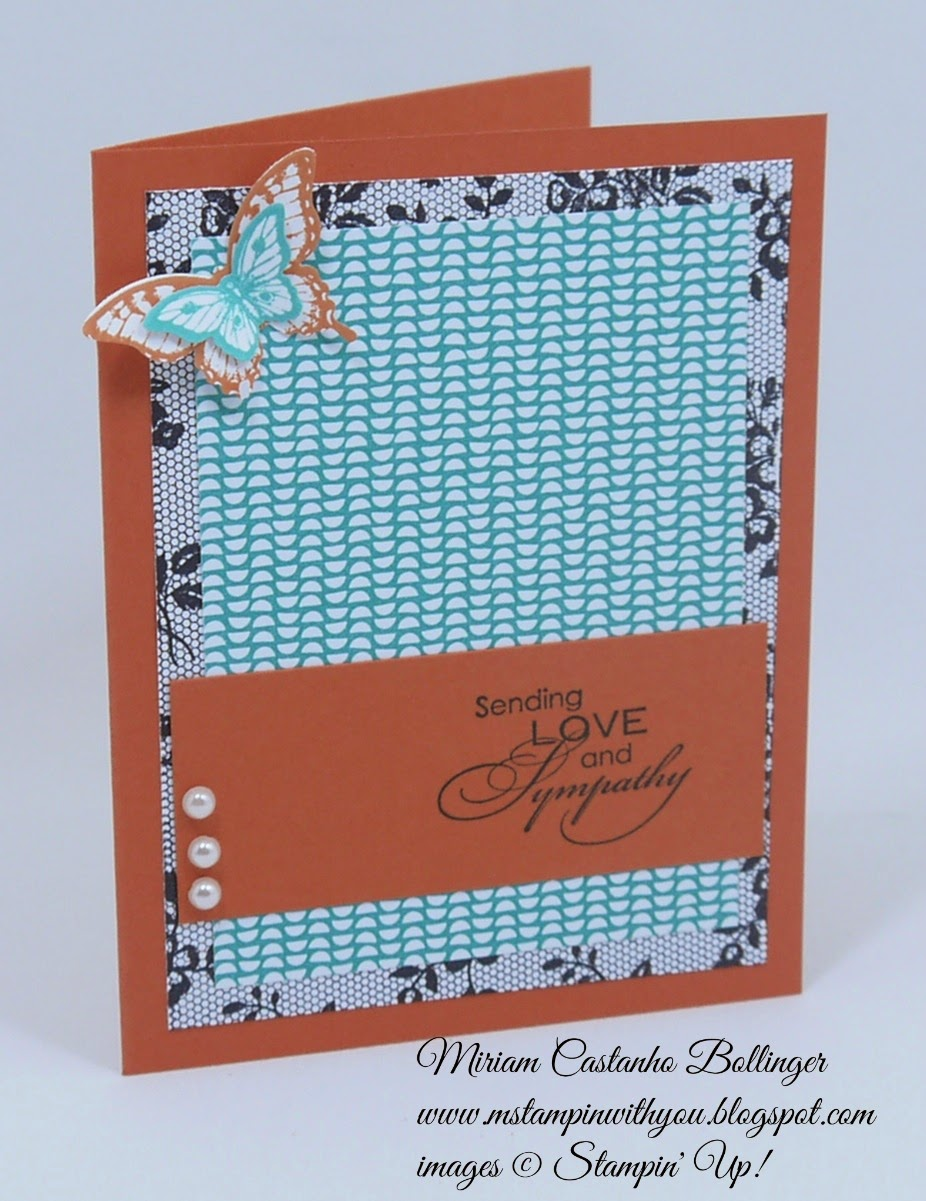 Miriam Castanho Bollinger, mstampinwithyou, stampin up, demonstrator, dsc105, sssc242, papillon potpourri, love & sympathy, I love lace, elegant butterfly, bitty butterfly, tator,