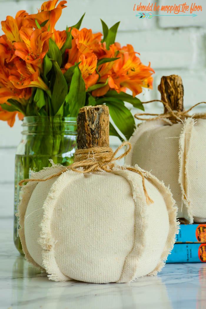 Dropcloth Pumpkins