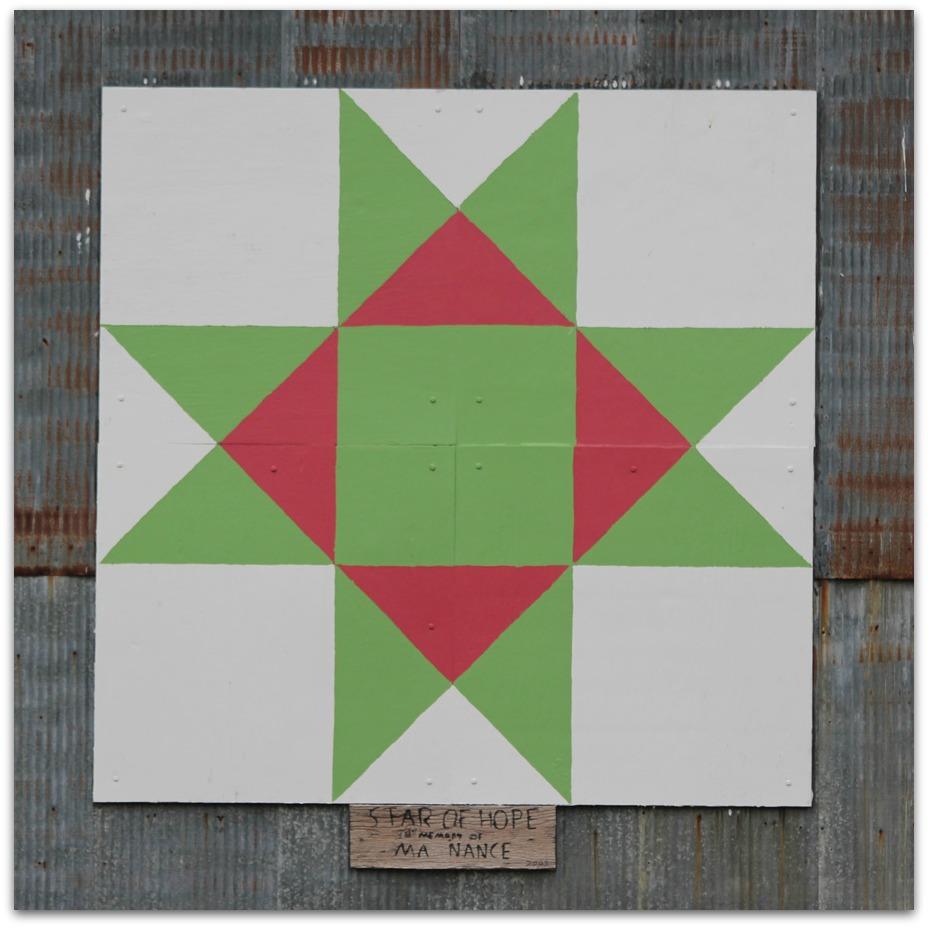Jbigg life in kentucky barns blooms and birds wk 7 for Front door quilt pattern