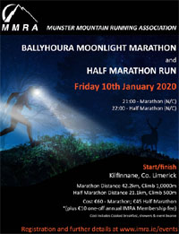 MMRA Ballyhoura Moonlight Marathon & Half-Marathon - Fri 10th Jan 2020