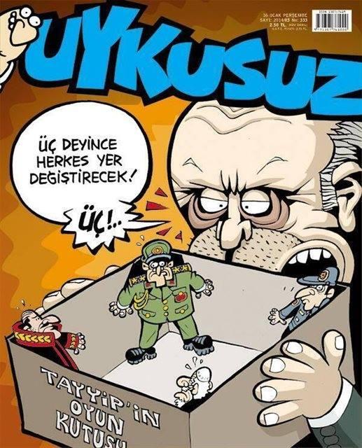 Uykusuz Dergisi - 16 Ocak 2014 Kapak Karikatürü