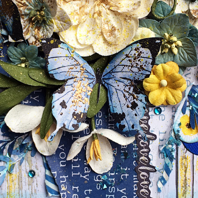 Love This Layout by Lisa Novogrodski for Scraps of Darkness April Kit Blue Skies and Sunshine
